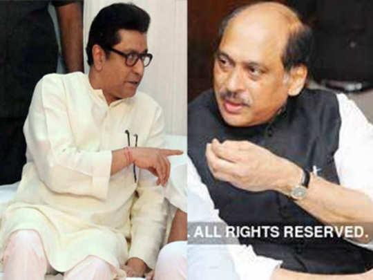 काँग्रेस नेते माणिकराव ठाकरे कृष्णकुंजवर