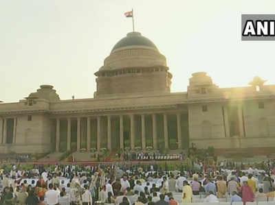 राष्ट्रपति भवन परिसर में समारोह की तस्वीर