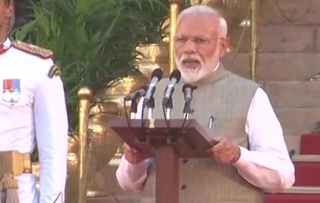 नरेंद्र मोदी ने दूसरी बार ली प्रधानमंत्री पद की शपथ