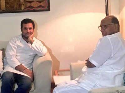 राहुल ने की शरद पवार से मुलाकात