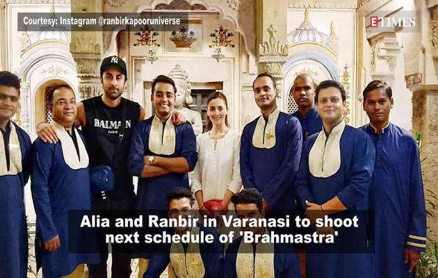 'ब्रह्मास्त्र' की शूटिंग के लिए वाराणसी पहुंचे आलिया-रणबीर