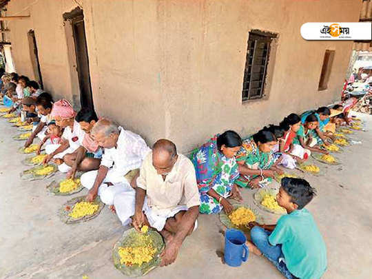 Khichri and laddu distributed in Bengal after NDA win