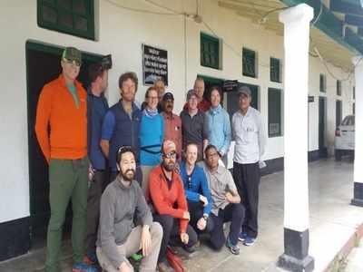 विदेशी पर्वतारोहियों का दल