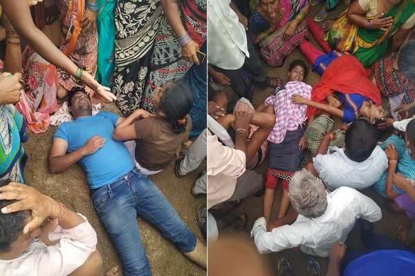 man and his two sisters in law drowned to death in jangaon reservoir