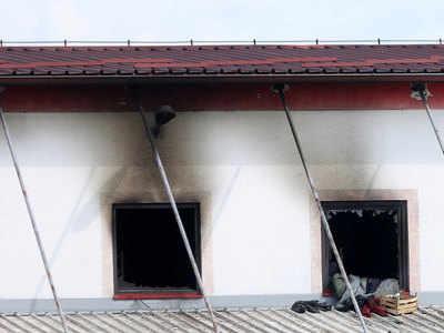 आग से नष्ट हुआ प्रवासी कैंप