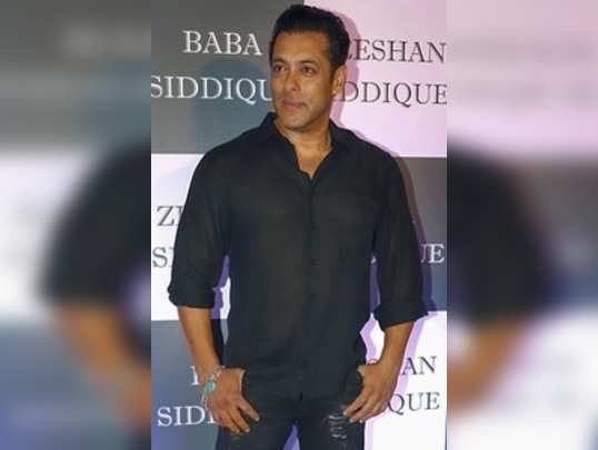 Mumbai: Bollywood actor Salman Khan attends an Iftar party hosted by politician ...