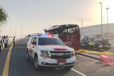 Dubai Bus Accident: దుబాయిలో ఘోర రోడ్డు