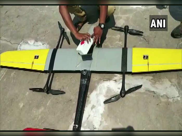ड्रोन ने 36 किलोमीटर की दूरी 18 मिनट में पूरी की