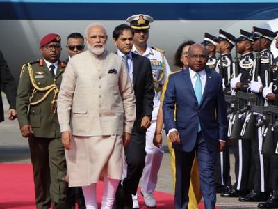 मालदीव पहुंचने पर पीएम मोदी का भव्य स्वागत