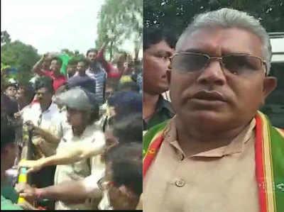 बंगाल में पुलिस और बीजेपी कार्यकर्ताओं में झड़प