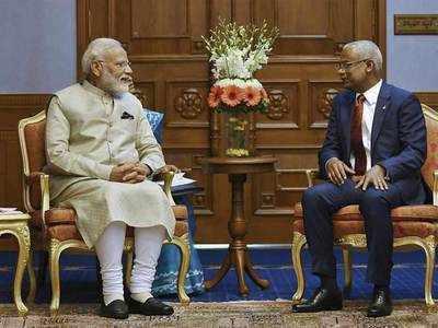 प्रधानमंत्री नरेंद्र मोदी और मालदीव के राष्ट्रपति इब्राहिम मोहम्मद सोलेह।