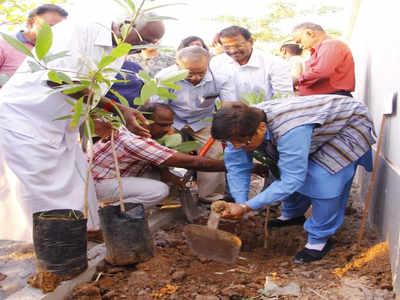 जन्मदिन के मौके पर किरण बेदी ने किया वृक्षारोपण