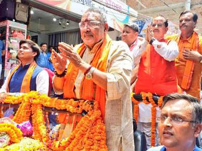 चुनाव जीतने के बाद पहली बार बेगूसराय पहुंचे गिरिराज सिंह