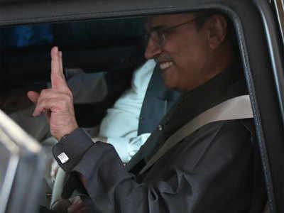 कोर्ट में पेश हुए जरदारी