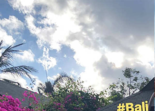 बाली रिज़ॉर्ट का खूबसूरत व्यू