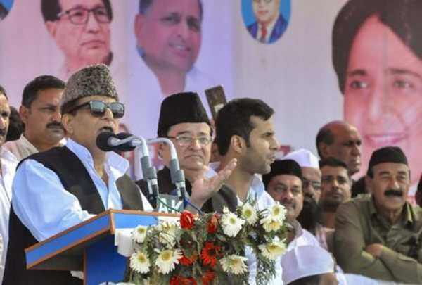 azam khan takes a dig at pms minority outreach says madrasas dont produce people like godse pragya singh