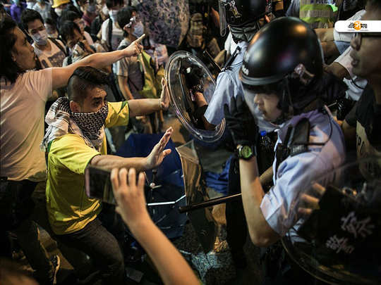 Hong Kong protests Police fire rubber bullets, use batons to disperse agitators