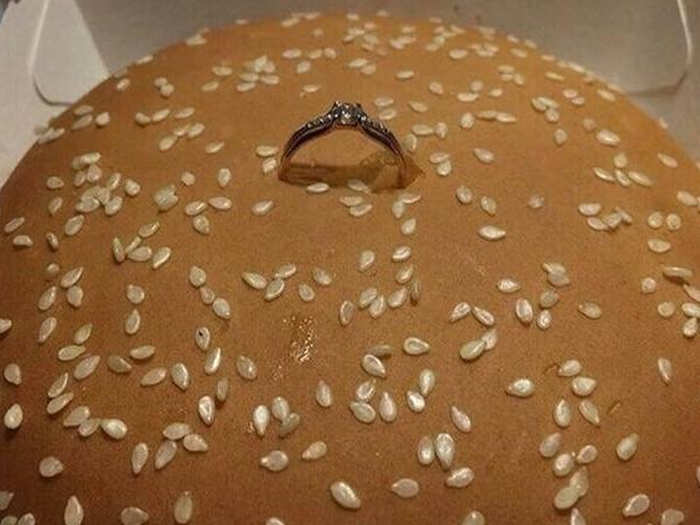 Burger Wedding Ring