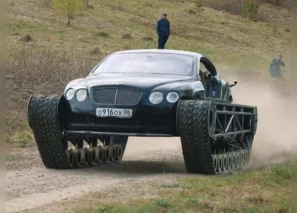 देखें, जब 3 करोड़ की कार को बना दिया टैंक