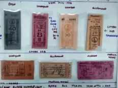 trichy man has collection of 82 000 old bus tickets some dating back to 1940s