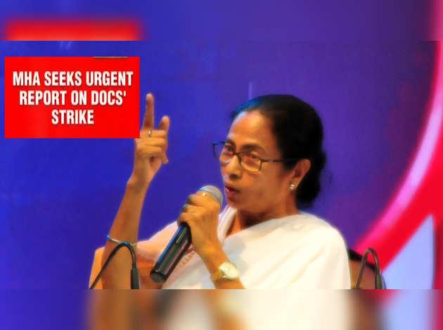 डॉक्टरों की हड़ताल पर केंद्र ने ममता सरकार से मांगी रिपोर्ट