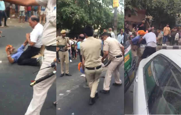 On cam: Sikh driver, his son beaten, dragged and kicked on road by Delhi Police