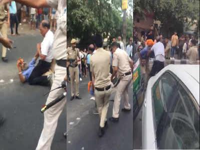 विडियो: दिल्ली पुलिस के सिपाहियों ने सिख ड्राइवर को पीटा