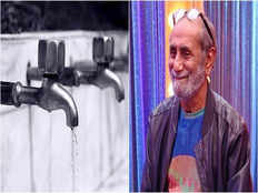famous cartoonist aabid surti repairs leaking taps at the age of 84 to conserve water