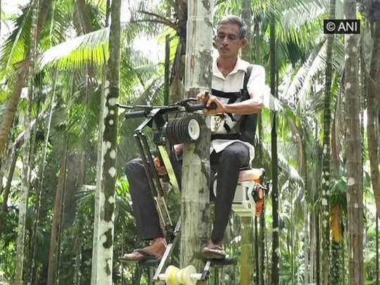 पेड़ पर चढ़ने वाली बाइक के साथ गणपति
