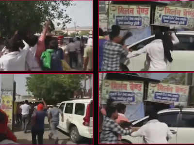 चमकी बुखार: बिहार के स्वास्थ्य मंत्री को लोगों ने दिखाए काले झंडे