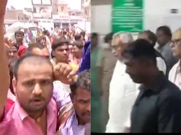 मुजफ्फरपुर में सीएम नीतीश कुमार का विरोध