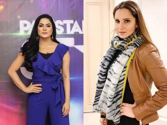 Sania Mirza and Veena Malik