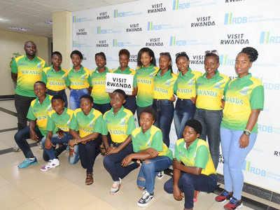 रवांडा महिला क्रिकेट टीम की तस्वीर (टि्वटर से)