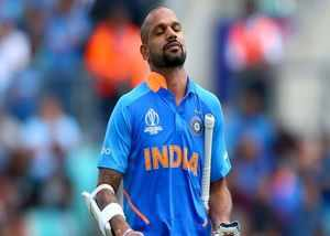 thumb fracture will not be cured shikhar dhawan ruled out of cricket world cup 2019