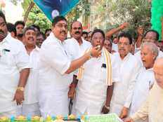 puducherry cm narayanasamy celebrate party president rahul gandhi birthday