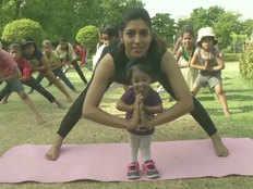 international yoga day worlds smallest woman jyoti amge does yoga