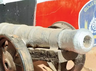 cannon found during the canal excavation in nadia district west bengal