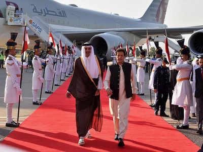 कतर के अमीर पाक दौरे पर हैं