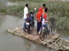 भूटान में भारी बारिश के बाद असम की नदियों में बढ़ा पानी