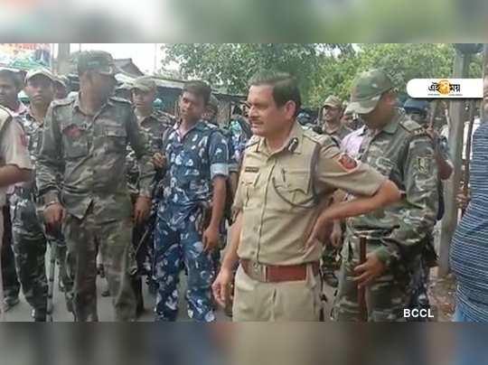 আজ কাঁকিনাড়ায় পুলিশ কমিশনার মনোজ ভার্মা। (ছবি: ANI)