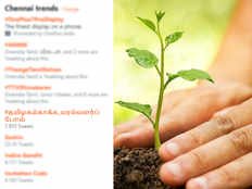 plant tress to save tamilnadu hashtag trending on twitter to spread awareness among people