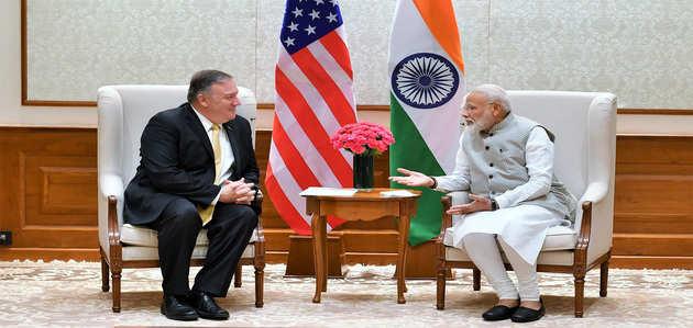प्रधानमंत्री नरेंद्र मोदी से मिले माइक पोम्पियो