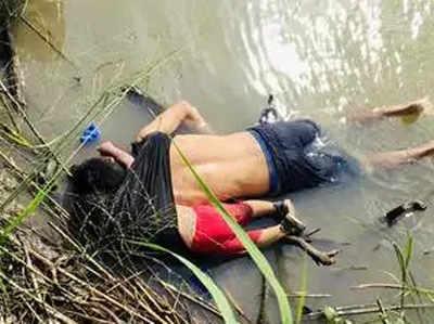 नदी किनारे पड़ी पिता से लिपटी मासूम की मौत की यह तस्वीर दुनिया को झकझोर रही है