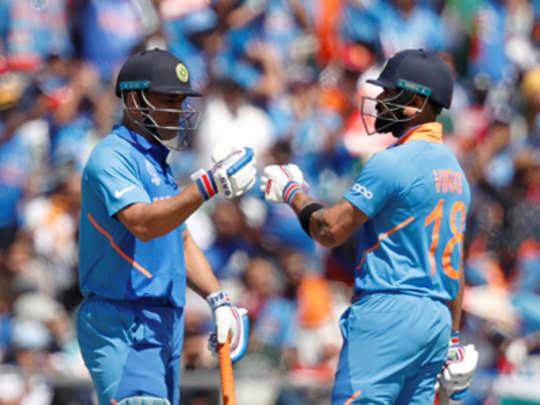 कोहली, धोनीची अर्धशतकं; भारताचे २६९ धावांचे आव्हान
