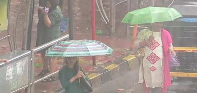 #मुंबईबारिश: शहर में भारी बारिश की आशंका