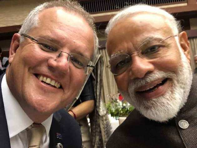 ऑस्ट्रेलियाई पीएम स्कॉट मॉरिसन संग पीएम नरेंद्र मोदी