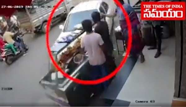 ramanthapur car accident cctv footage
