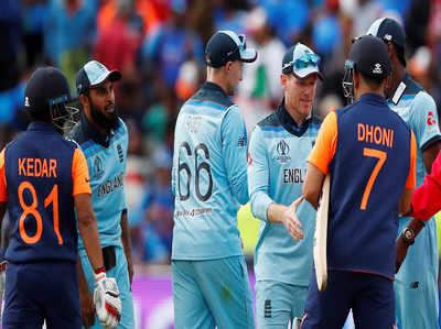 इंग्लैंड ने भारत को हराया, वर्ल्ड कप में टीम इंडिया की पहली हार