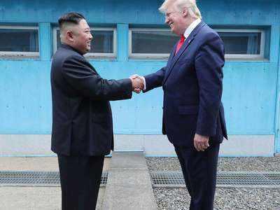 अमेरिकी राष्ट्रपति डॉनल्ड ट्रंप और किम जोंग उन