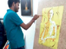 young man from kanpur becomes famous for paint with knife